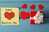 Valentinstag-hinweis — Stockfoto