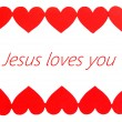 Jesus loves you text in frame — Stock Photo #62967979