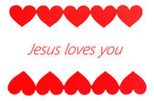 Jesus loves you text in frame — Stock Photo