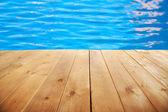 Poolside background — Stock Photo