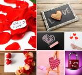 Valentine's Day photo collage — Stock Photo