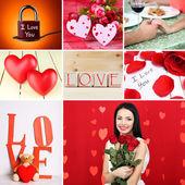 Valentine's Day photo collage — Zdjęcie stockowe