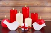 Candles for Valentine Day — Stock Photo