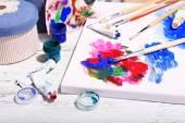 Professional art materials — Foto de Stock
