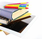 Pile of books with tablet — Foto Stock