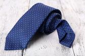 Trendy blue tie — Stock Photo