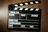 Black movie clapper — Stok fotoğraf