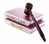 Judge's gavel on Family LAW book — Стоковое фото