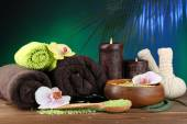 Spa treatments with orchid flowers — Stock Photo