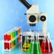 Test tubes with colorful liquids — Stock Photo #63364163