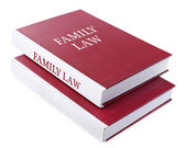 Family LAW books isolated on white — Stock Photo