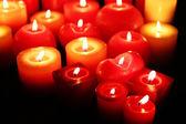 Brinnande ljus närbild — Stockfoto
