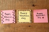 Valentines day notes — Stock Photo