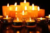 Burning candles on dark background — Foto de Stock