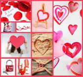 Valentine's Day collage — Stock Photo