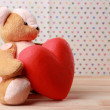 Teddy Bear with red heart — Stock Photo #63533463