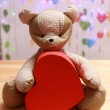 Teddy Bear with red heart — Stock Photo #63533467