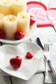 Table of Valentines Day — Stock Photo