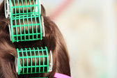 Hair during hair dressing — Stock Photo