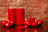 Burning candles for Valentine Day — Φωτογραφία Αρχείου