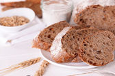Tasty bread on table — Stock Photo