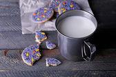 Crumbled glazed cookies — Stock Photo