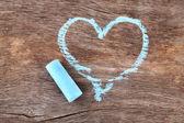 Heart drawn of chalk — Stock Photo
