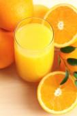 Freshly squeezed orange juice, close-up — Stock Photo
