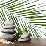 Spa stones with sea salt — Stock Photo #63685113