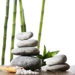 Spa stones with sea salt — Stock Photo #63685115