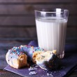 Donut with glass of milk — Stock Photo #63685369
