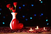 Romantic gift with candles — Foto de Stock
