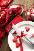 Table setting for Valentine Day — Photo