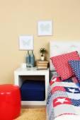 Modern colorful bedroom interior — ストック写真