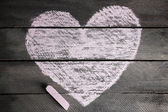 Heart drawn of chalk — Foto de Stock