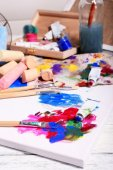 Professional art materials — 图库照片
