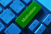 Close up of Motivation keyboard button — Stock Photo