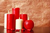 Burning candles for Valentine Day, weddings,events involving love. — Stock Photo