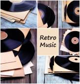 Retro music collage — Stock Photo