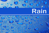 Water droplets on color background — Stock Photo