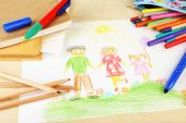 Drawing made by child — Stock Photo