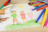 Drawing made by child — Foto de Stock