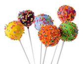 Sweet cake pops isolated on white — Stockfoto