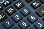 View of calculator board — Stock Photo