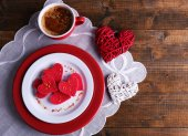 Cookies in form of heart — Stock Photo