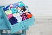 Socks in color drawer — Stock Photo