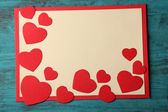 Post card with hearts — Foto Stock