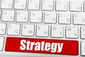 Close up of Strategy keyboard button — Stock Photo