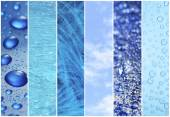 Blue color samples collage — Stock Photo