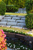 Stone steps in park — Stock Photo